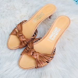 Salvatore Ferragamo heeled sandal slide gorgeous!